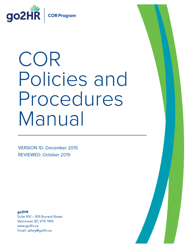 COR Program: Policies and Procedures Manual