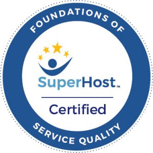 SuperHost Foundations of Service Quality Certified Badge