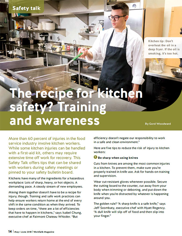 The Recipe for Kitchen Safety? Training and Awareness | BC