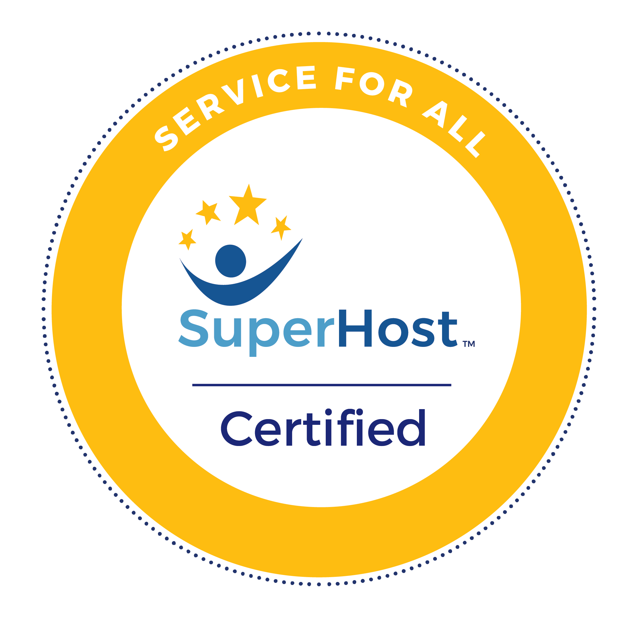 SuperHost Service For All Certified Badge