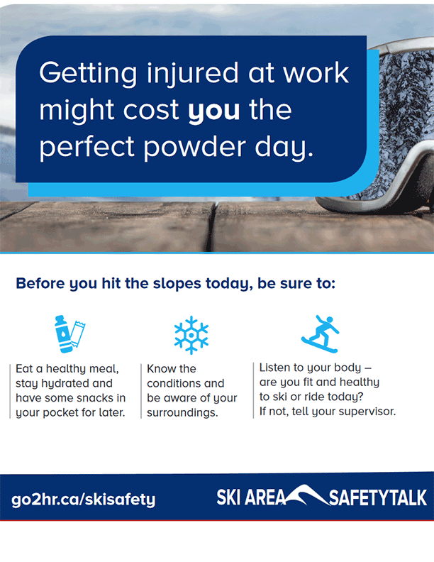 "Ski Area Poster: ""Before you hit the slopes"" Snow Sports Injury Reduction"