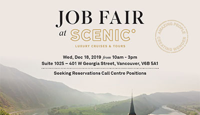 Job Fair @ Scenic Luxury Cruises & Tours