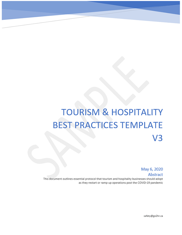 Tourism and Hospitality COVID-19 Best Practices Template