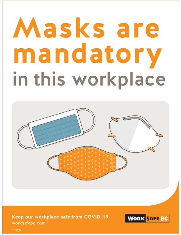 COVID-19: Masks are Mandatory in this Workplace