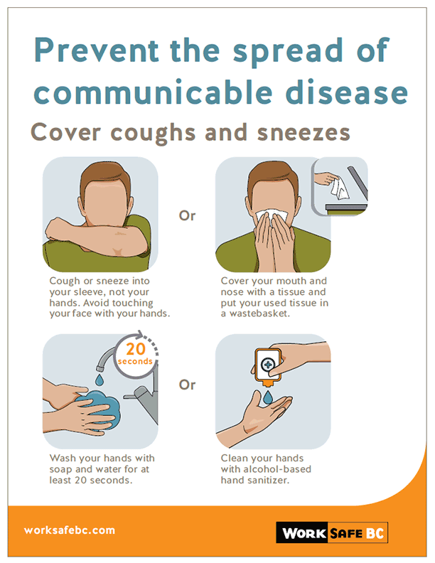 Prevent the Spread of Communicable Disease: Cover Coughs and Sneezes